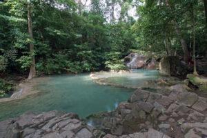 Thailand Kanchanaburi Erawan Nationalpark Wasserfall
