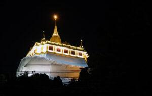 Bangkok bei Nacht Golden Mount  Wat Saket