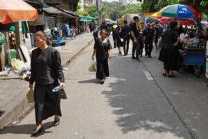 Thailand Bangkok Einaescherung von Koenig Bhumibol