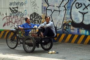 Straßenleben in Vietnam Saigon Ho Chi Minh Stadt