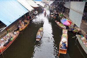 Damnoen Saduak Floating Market schwimmender Markt