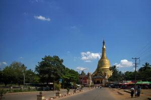 Shwe-maw-daw-Pagode in Bago in Myanmar