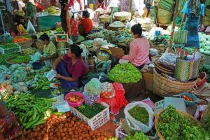 Bagan - lokaler Markt in Myanmar