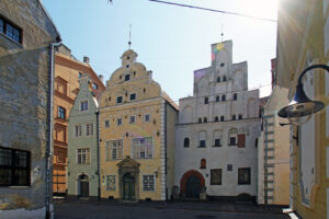 Riga Altstadt Zentrum historisch drei Brüder älteste Häuser der Stadt