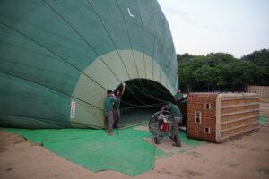 Ballonfahrt über Bagan in Myanmar