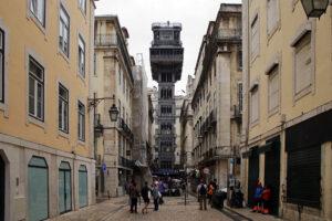 Lissabon Aufzug Elevador de Santa Justa Unterstadt Oberstadt