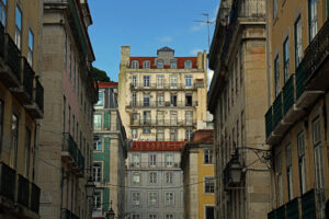 Lissabon Aufzüge im Elevador Casa