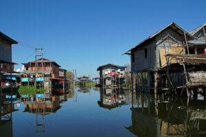 Inle See in Myanmar Inn Paw Khone Village