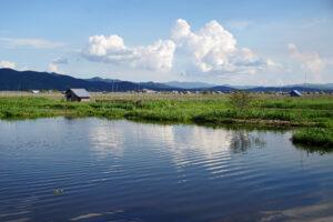 Inle See in Myanmar schwimmende Gärten