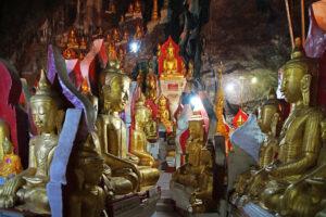 Inle See in Myanmar Höhle von Pindaya