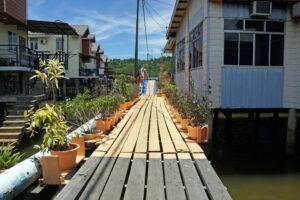 Brunei Water Village Dorf im Wasser